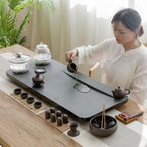 Wujin Stone Tea Plate Set Fully Automatic Integrated Induction Furnace Boiler Water Tea Set Stone Tea Ceremony Kung Fu Tea
