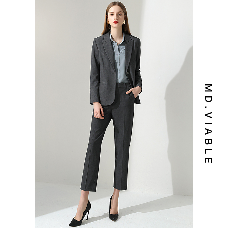 Professional suit womens work clothes fashion OL temperament suit workplace interview to work high-end business dress womens suit