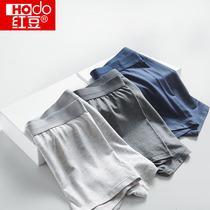 Красный фасоль трусики для мужчин модал плюс размер хлопок промежность антибактериальные дышащая четырехугольник шорты для мальчиков