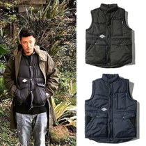 Yu Wen Le with a vest down coat thick Tide brand warm vest young Japanese men Ma Jie Chunqiu