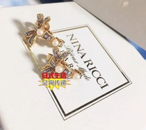 Middle earring earring (Live auction) (no refund no change package tax does not include postage)