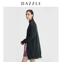 DAZZLE Prime autumn and Winter new loose lazy hair damaged mohair sweater cardigan female 2A3E5051Q
