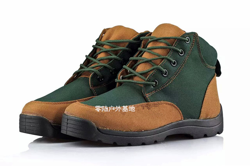 Genuine 05 cotton shoes winter fire protection and warmth canvas cotton shoes with thicker barrel, cold-proof boots, snowy boots, father shoes and boots