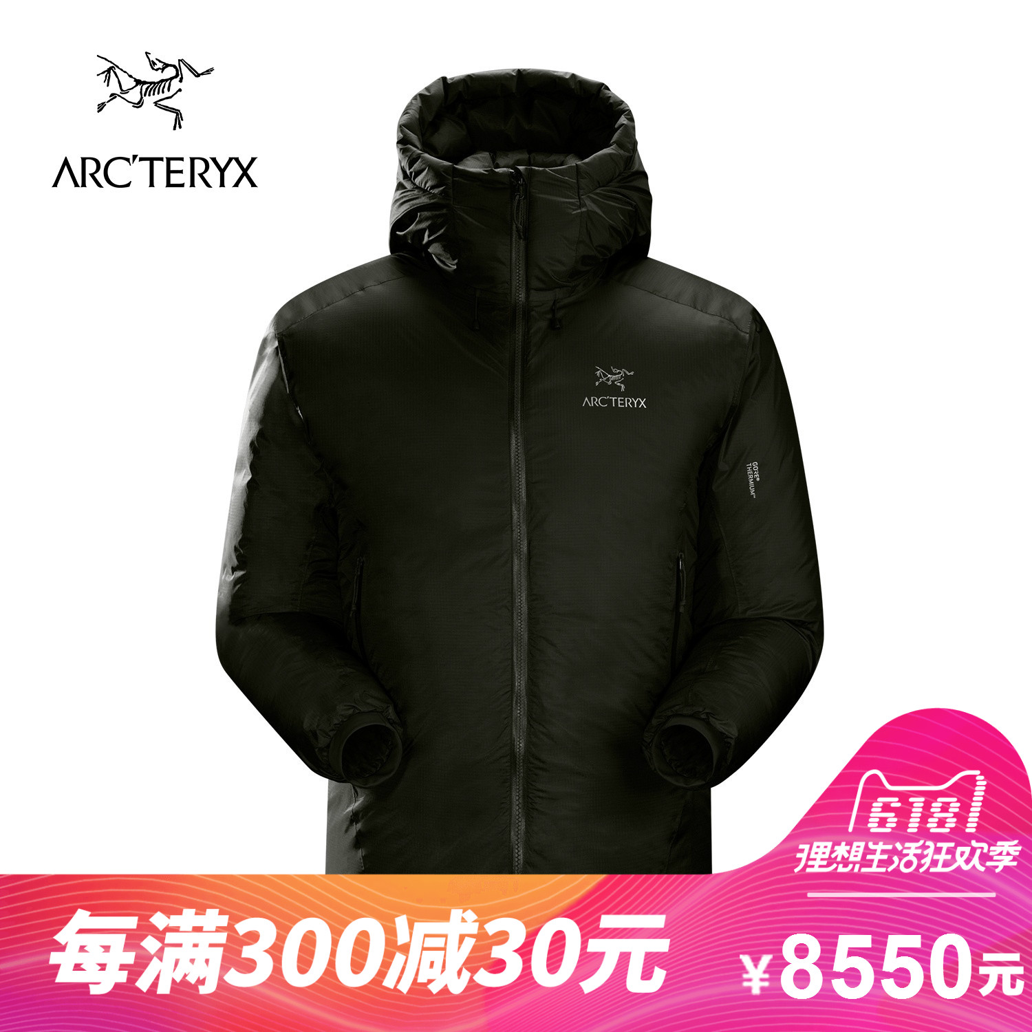 ARCTERYX / Archaeopteryx Men's Lightweight Warm Ski Hooded Down Jacket Firebee AR 18016