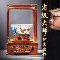 Jingdezhen ceramic master Ming Chenghua Doucai chicken bowl Pure hand-made antique tea cup Kung Fu master cup Jianzhan