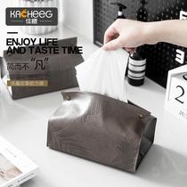 Meilleur orange ~ nordique simple boîte de mouchoirs chambre salon en cuir Maison Maison de stockage de bureau de voiture de pompage sac en papier ensemble