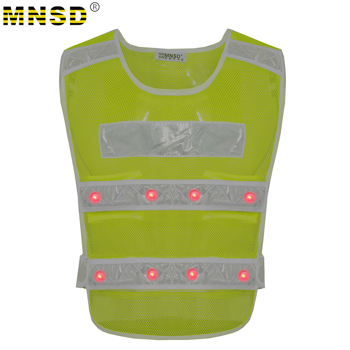 MNSD construction reflective vest with LED reflective safety clothing road protective clothing reflective vest \ vest
