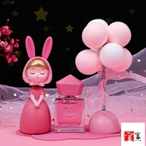 Ins girl dream rabbit girl car swing balloon fragrance womens car center control table decoration car ornaments car ornaments.
