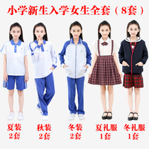 Shenzhen school uniform primary school students a small girl unified freshmen enrolled in the clothing spring summer autumn and winter dress full set