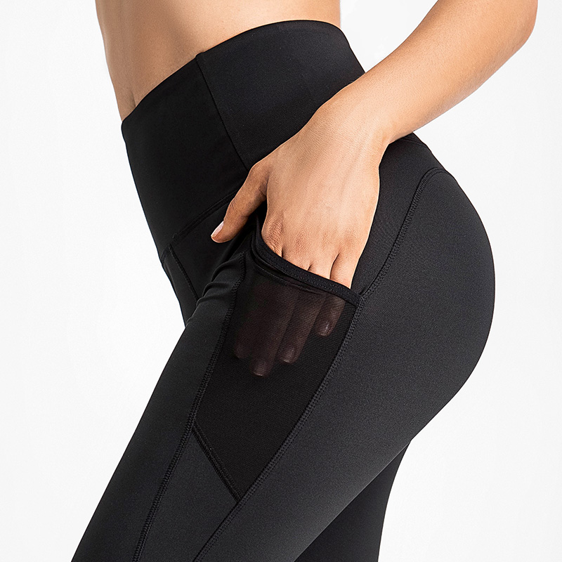 Yoga pants women wear high waist buttocks tight-fitting peach large size summer fat mm belly thin section nine-point stretch fitness pants