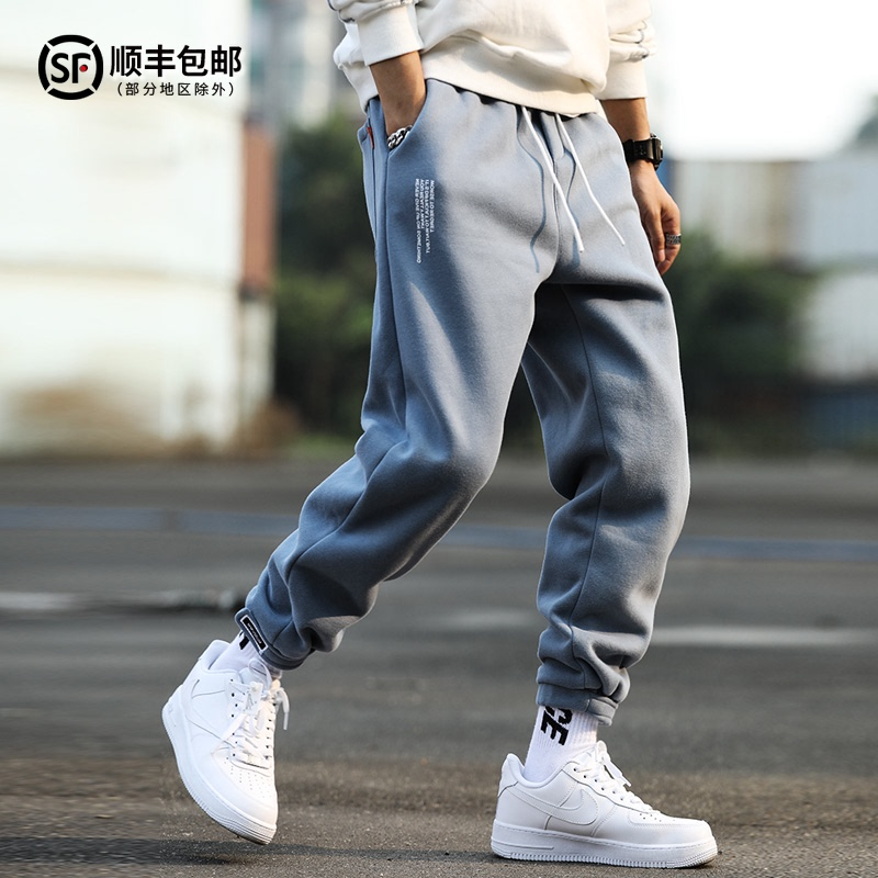 Tide brand casual pants mens spring and autumn thin collection of leggings Korean version of the trend with loose sports pants ins