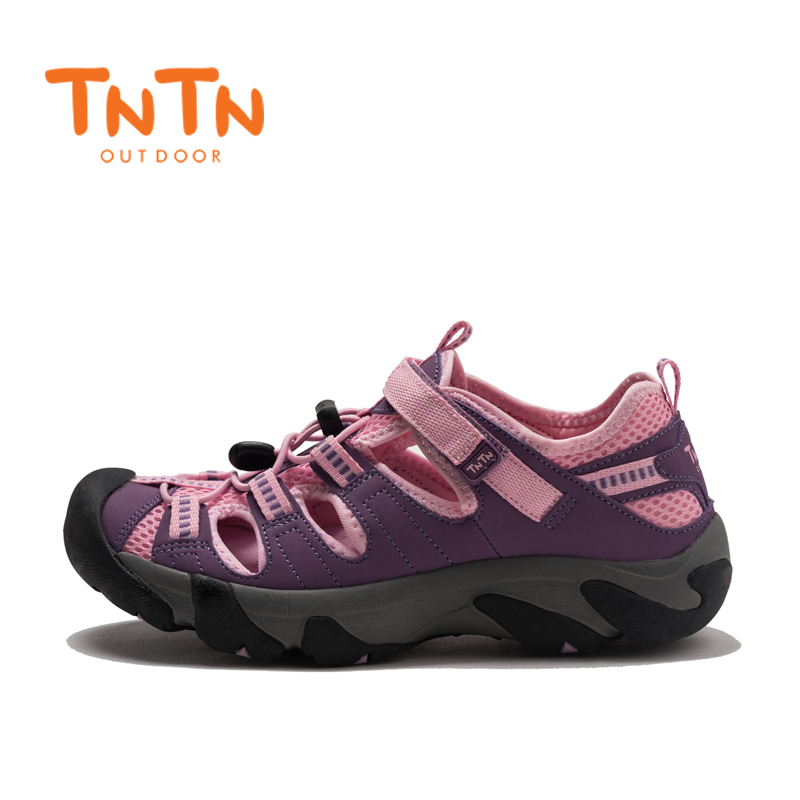 TNTN Outdoor Summer Recreation Wading, Tracing River Cave Fishing, Men's and Women's Mesh Sand Beach Mountaineering, Running Slippers