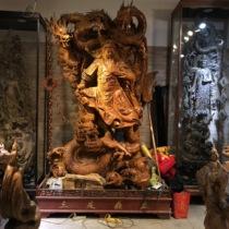 Taihang Cliff root decoration uber Kim Snan guanyin Maitreya Buddha carving living room decoration carving crafts