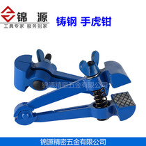 Kam Source Cast steel hand vice hand hold mini manual clamping vice small pliers 25MM40 type 50