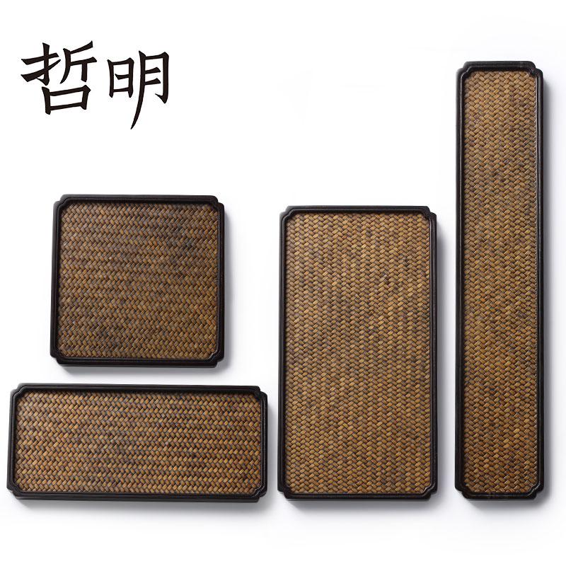 Zheming single-layer Song Xi heavy bamboo office dry bamboo mat tea set tea plate kungfu tea tray small outdoor
