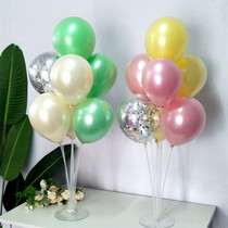 Pearl candy-colored double-decker table floating birthday arrangement annual new year table decoration wine party air balloon