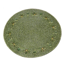 India imported Mat Model Room Restaurant West table decoration Real shell + beads hand-worn embroidered round mat