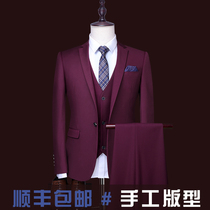 Mens summer slim suit