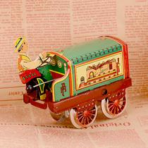 Старинный механический автомобиль классический подкова кожа заводные игрушки ностальгия ветер витрины украшения коллекционные ремесла