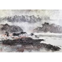 North Korean Painting auction width 95cm Zheng Changmu Peoples Artist Winter of the South River Jinxiu Mountain bn336