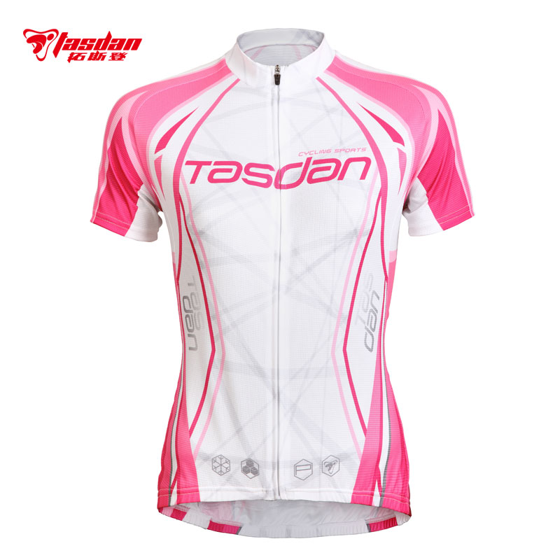Tasdan Spring and Summer Cycling Wear Women's Highway Bicycle Cycling Equipment Short-sleeved Suit Top