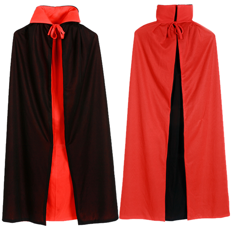 Halloween Costume Adult children's cloak Witch Black Red Death cloak witch vampire Cosplay dance