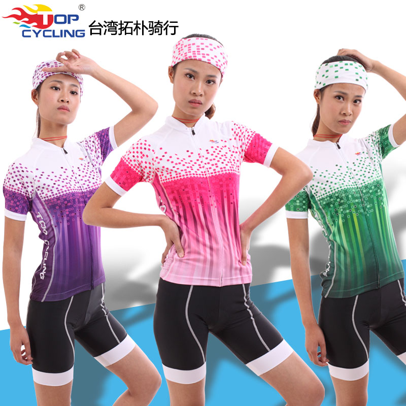 TOPCYCLING Short-sleeved Cycling Suit Women's Spring, Summer and Autumn Cycling Raw Yarn Breathable Cycling Suit
