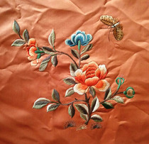 Old embroidery butterfly flower exquisite embroidery peony flower butterfly embroidery diy embroidery piece to do decorate Beijing embroidery embroidery Film