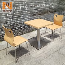 Dessert Milk Tea Shop tables and chairs simple simple fast food restaurant sauteed snack breakfast shop table dining chair combination Wholesale