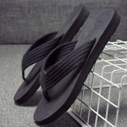 LBEL anti-skid slippers male summer beach shoes wear sandals outdoor pinch sandals sandals male Korean tide
