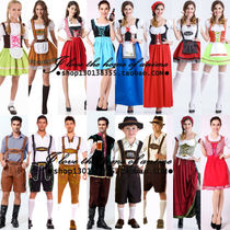 Halloween Party couple maid costume german leather pants Clothing beer festival adult men and women stage dress