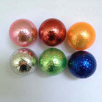 Golf brand new ball hot transparent electroplating color Golf double Ball gift non-refurbished golf