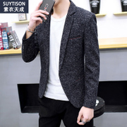 Men's casual suit jacket autumn 2017 new trend of Korean Slim small suit handsome male winter coat