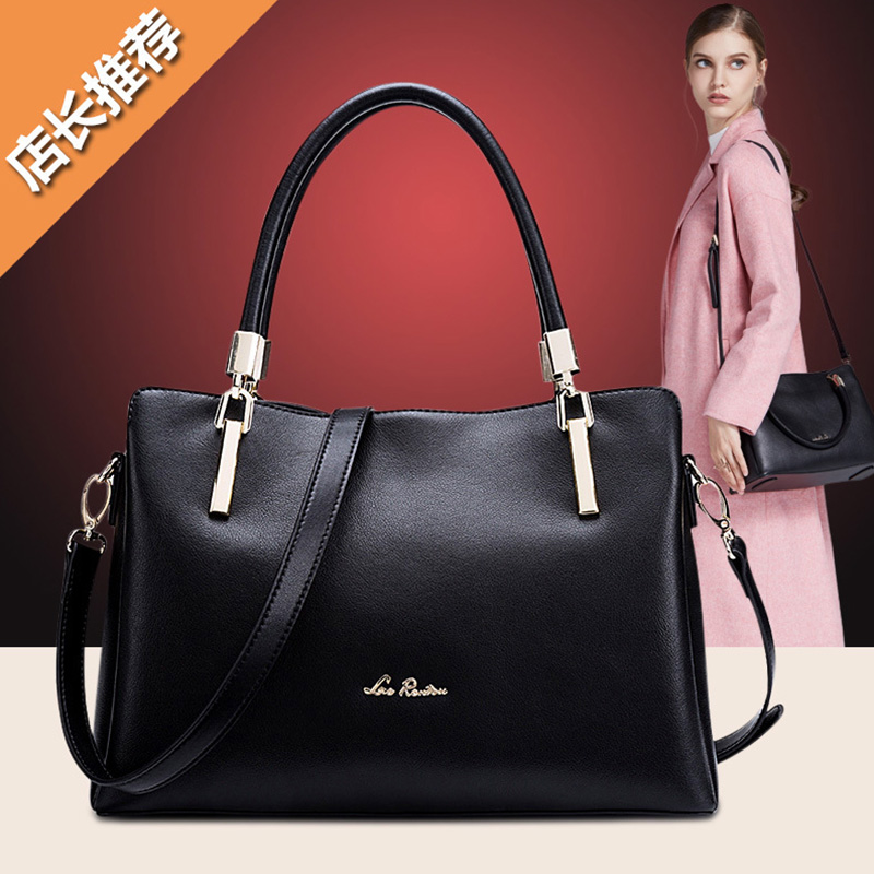 Old man head bag female 2018 new fashion wild shoulder bag portable messenger bag simple leather atmospheric handbag