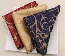 High-grade napkin cloth Western restaurant mouth cloth flower folding towel hotel tablecloth Tablecloth Small square towel European wipe cup cloth