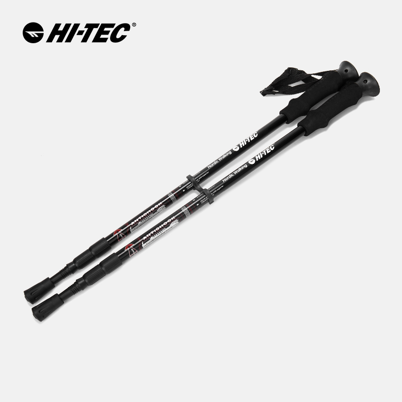 HITEC three section telescopic cushioning outdoor trekking pole men and women portable climbing equipment O001938