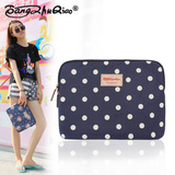 Joe Bangzhuo waterproof PVC canvas floral pastoral ipad Samsung Tablet PC protection cotton bag bag liner