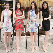 Girls cheongsam dress summer bride self-cultivation retro daily sexy sexy chinese girl students