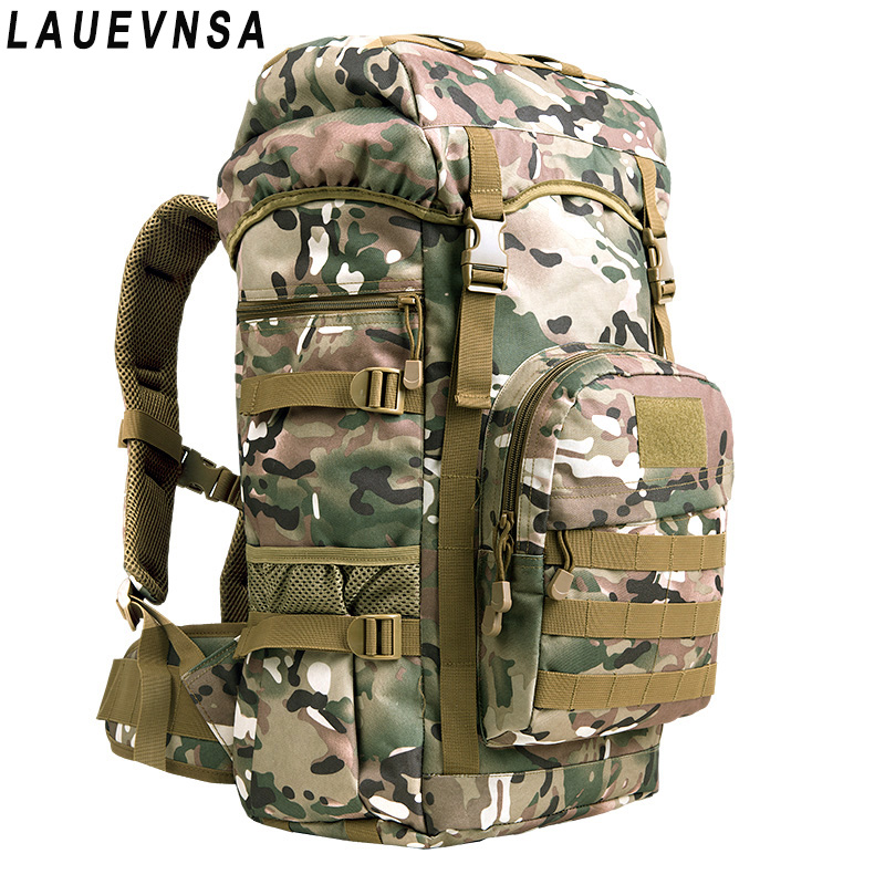 Outdoor mountaineering bag 50L men and women shoulder bag travel large capacity backpack male special forces rucksack tabby special combat package