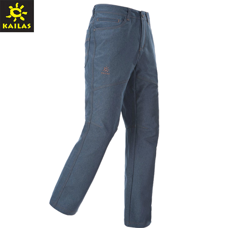 Kaile KAILAS male cowboy soft shell pants windproof pants warm winter KG510152