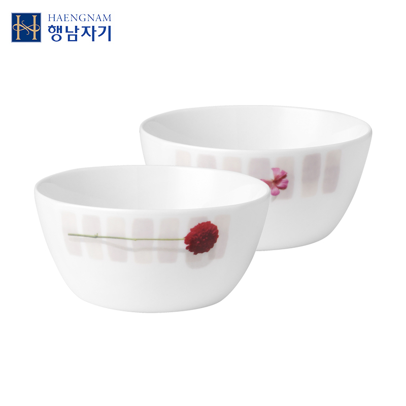 HAENGNAM Korean Xingnan Porcelain A Five-inch Baleng Soup Bowl Porcelain Korean Glazed Tableware