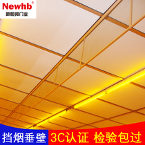 Fixed rigid glass smoke-retaining wall transparent fireproof glass to smoke the vertical wall of fire-retaining wall