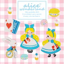 Miss Godzilla exclusive original illustration embroidered patch-Alice In Wonderland set