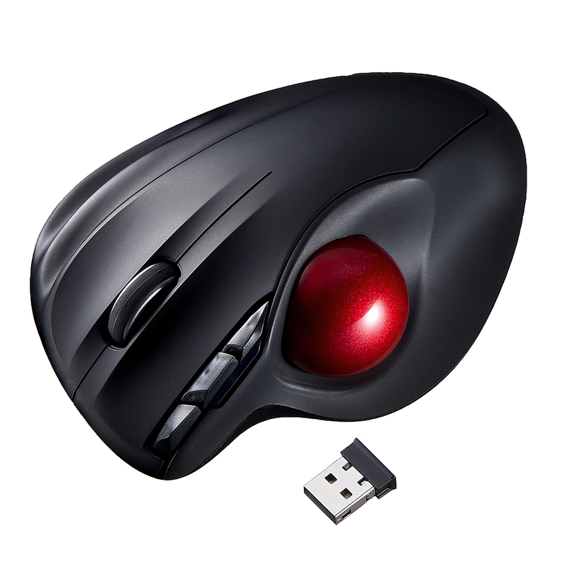 Japan SANWA Wireless Laser Trackball Mouse Preventing Mouse Hands CAD Art Professional Drawing Mouse