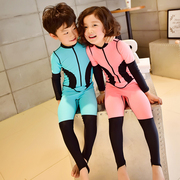 The boys and girls swimsuit diving suit body sunscreen Siamese long sleeved pants spa children snorkeling waterproof mother