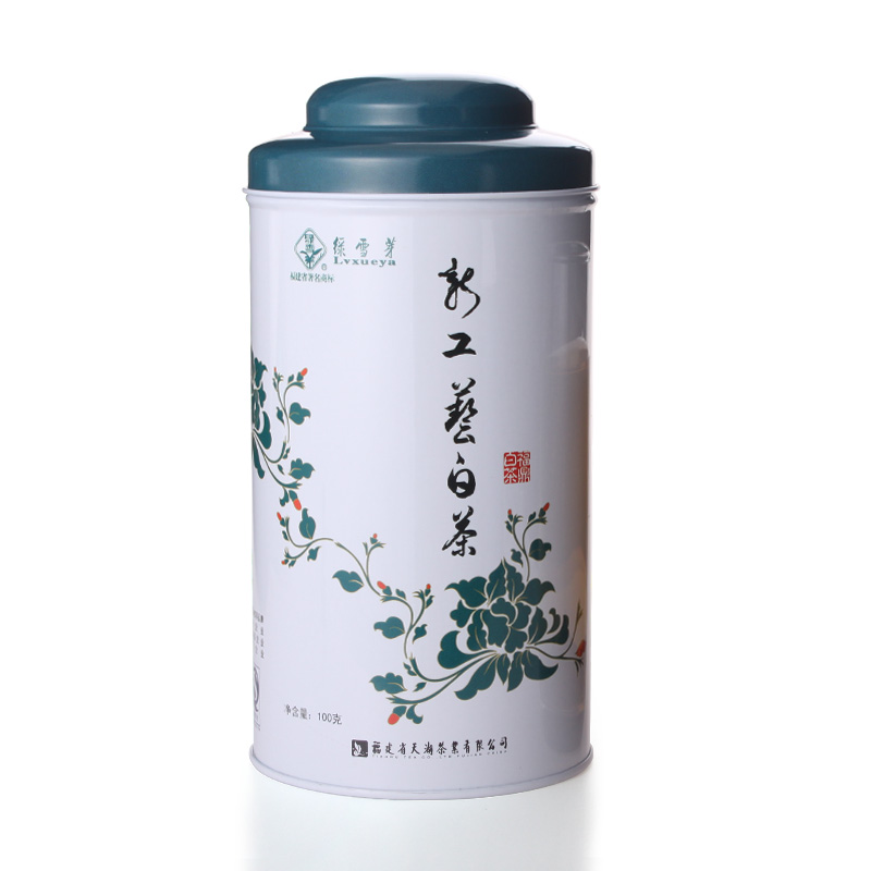 New Technology of Green Snow Bud White Tea in Tianhu Tea Industry of Fujian Province in 2012 100G Canned Old White Tea