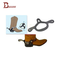 Equestrian spurs with Western Spurs riding horses Spurs rubber elastic anti-skid support frame eight-foot dragon harness