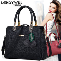 Bag 2016 autumn and winter new shoulder Messenger bag casual wild fashion lace female bag three large bags