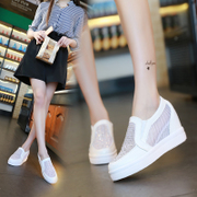 Increase in women's shoes breathable small women's shoes in the spring thick soles of women's shoes high heels 2017
