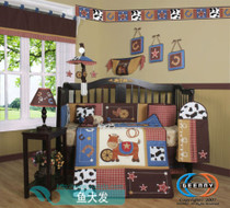 Purchase Western cowboy crib bedding baby nursery 14 ergele lamp removable and washable